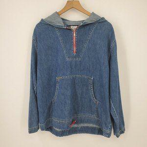 Calvin Klein 1/4 Zip Pullover Hoodie Vintage 90's